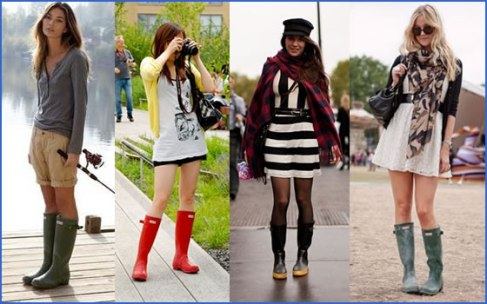 As Galochas Coloridas demostrando que não existe moda,  simplesmente questão de Estilo.