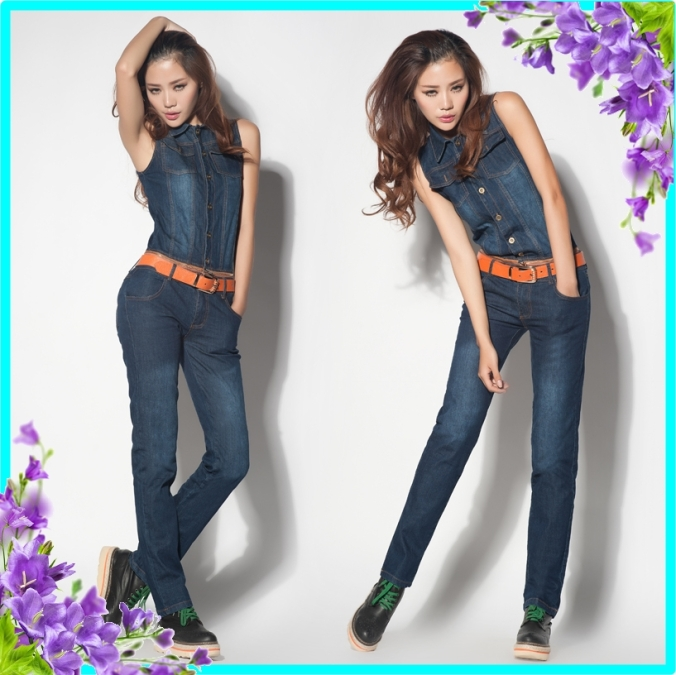 Free-shipping-2013-Autumn-New-Jeans-Women-Jumpsuit-Overalls-Trousers-Big-Size-Coveralls-Bodysuits-Vest-Belt