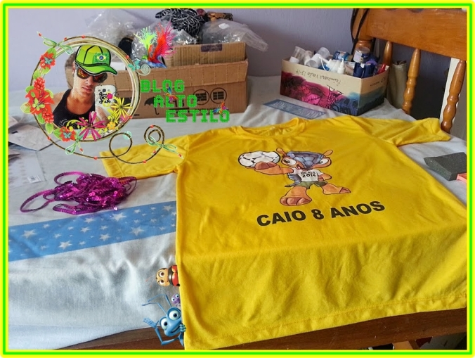Camiseta Customizada Copa 2014