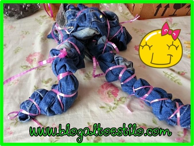 Calça Jeans Customizada